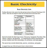 Physics - Basic Electricity Labs