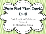 Basic Fact Flash Cards (0-9)