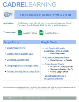 Google Forms and Google Sheets Instructional Videos