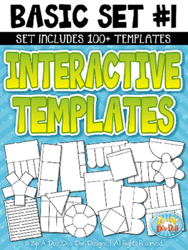 Basic Flippable Interactive Templates Set 1 — Includes 100