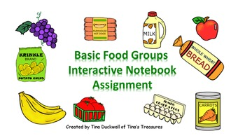Basic Food Groups Interactive Notebook Activity