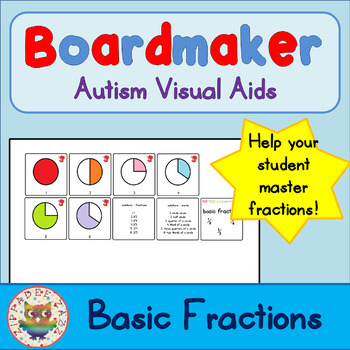 Basic Fraction Cards - Visual Aids for Autism