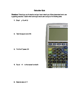 Basic Function TI-83 Plus Quiz