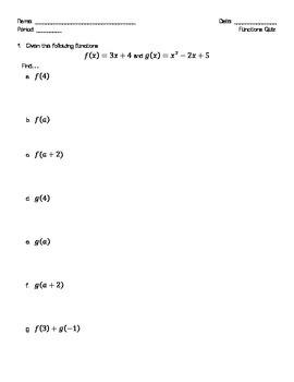 Basic Functions - Quiz