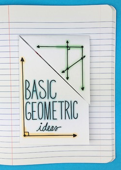 Basic Geometric Ideas Interactive Notebook Foldable by Mat