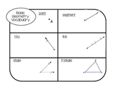 Basic Geometry Graphic Organizer