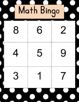 Basic Math Bingo