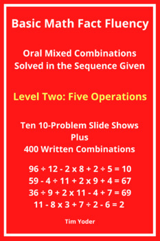Basic Math Fact Fluency with Mixed Combinations - Level Tw