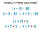 Basic Math Facts - Absolute Value