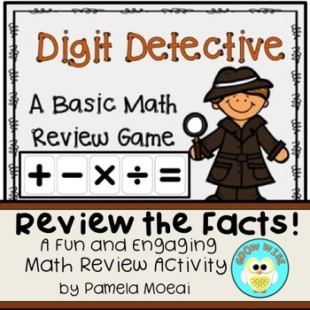 Math Review:  Digit Detective Game