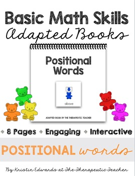 Basic Math Skills: Positional Words Adapted Books