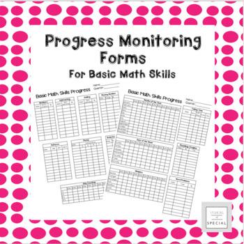 Basic Math Skills Progress Monitoring Forms