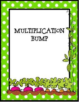 Basic Multiplication Facts Bump - Spring Garden Theme