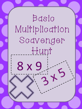 Basic Multiplication Scavenger Hunt