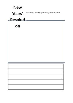 Basic New Year Resolution Worksheet