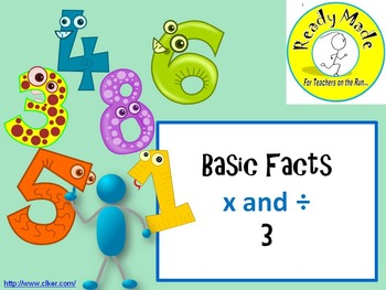 Basic Number Facts Warm Up PowerPoints Multiply and Divide 3
