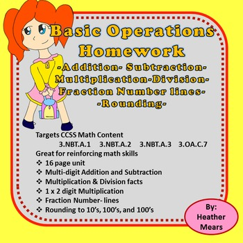 Addition, subtraction, multiplication, division, rounding