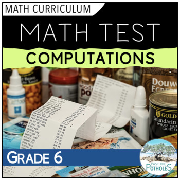 Basic Operations/Computations Math Unit Test - assessment
