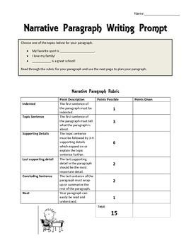 Beginning Paragraphs Packet