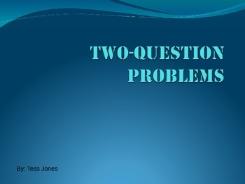 Basic PowerPoint On 2-Step Word Problems
