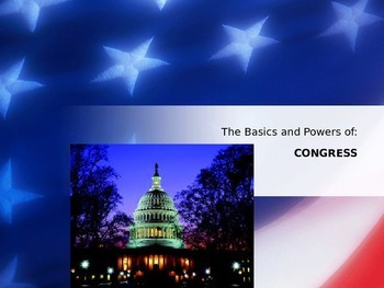 Basic Powers of Congress - PowerPoint Presentation / Lecture