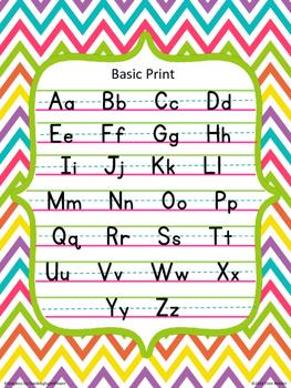 Basic Print Poster {Chevron Brights}