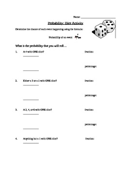 Basic Probability - Dice & Deck of Cards