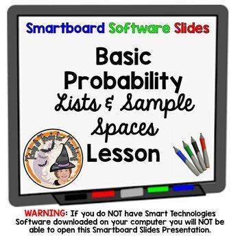 Basic Probability, Lists, Sample Spaces Smartboard Lesson