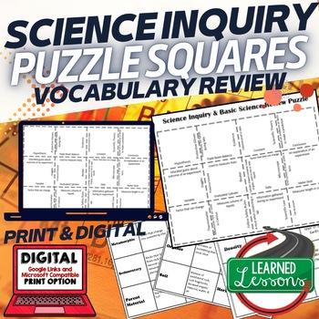 Basic Science and Scientific Inquiry Puzzle