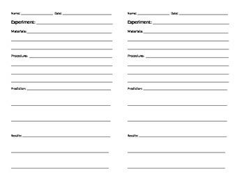 Basic Scientific Method Journal