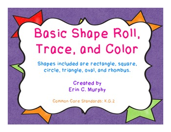 Basic Shape Roll, Trace, and Color