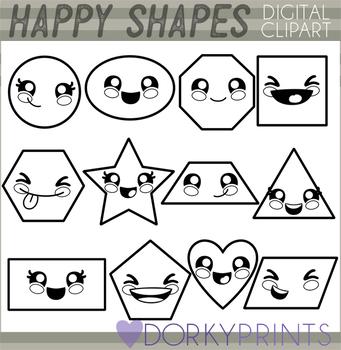 Basic Shapes Blackline Clipart