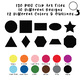 Basic Shapes Clip Art (2D) - 130 png files - 10 designs in