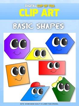 Basic Shapes: Digital Cup of Tea Clipart