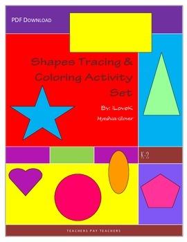 Basic Shapes Tracing & Coloring Set