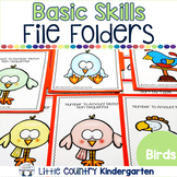 Basic Skills File Folder Games: Birds Theme