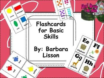 Basic Skills Flashcards- Great for Pre-K, Kindergarten, or