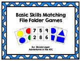 Basic Skills Matching File Folder Games