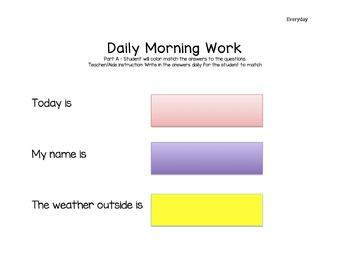 Basic Skills Morning Bell Work