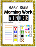 Basic Skills Morning Work Binder