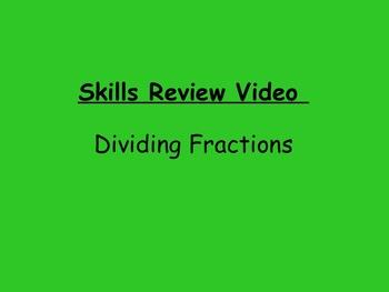 Basic Skills Video: Dividing Fractions