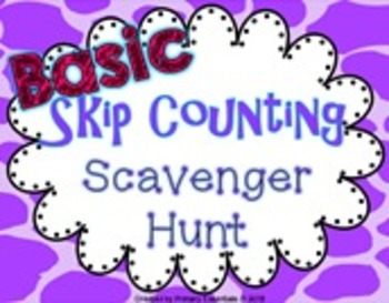 Basic Skip Counting Scavenger Hunt