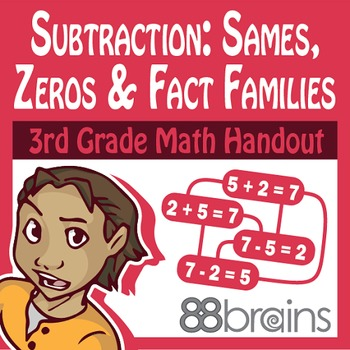 Basic Subtraction: Sames, Zeros, and Fact Families Pgs. 9 & 10