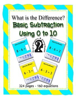 Basic Subtraction using 0 to 10 ~ What is the Difference?1