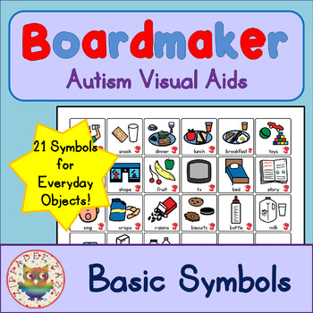 Basic Symbol Cards - Boardmaker Visual Aids for Autism