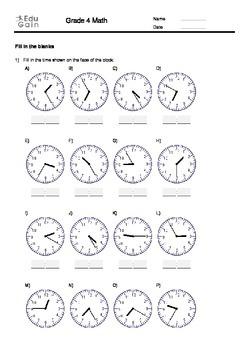 Basic Time Telling Practice Workbook