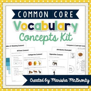 Basic Vocabulary Concepts Kit