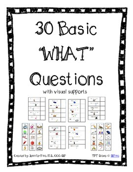 Basic WHAT Questions Packet