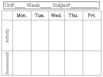 Basic Weekly Plan