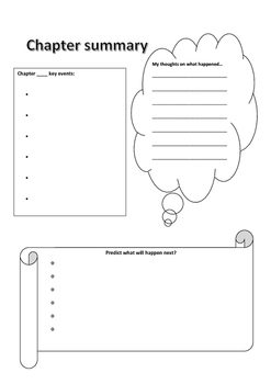 Basic chapter summary template